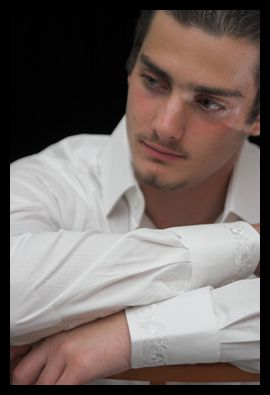 Romantici: fashion white dress shirt, new generation formal wear