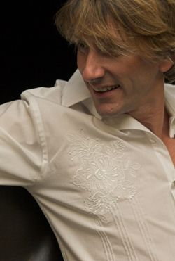 English WhiteRose, designer clubbing shirt for guys, stunning