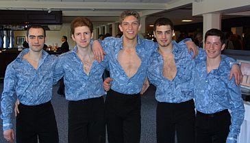 DanceFever guys wearing BlueWater shirts
